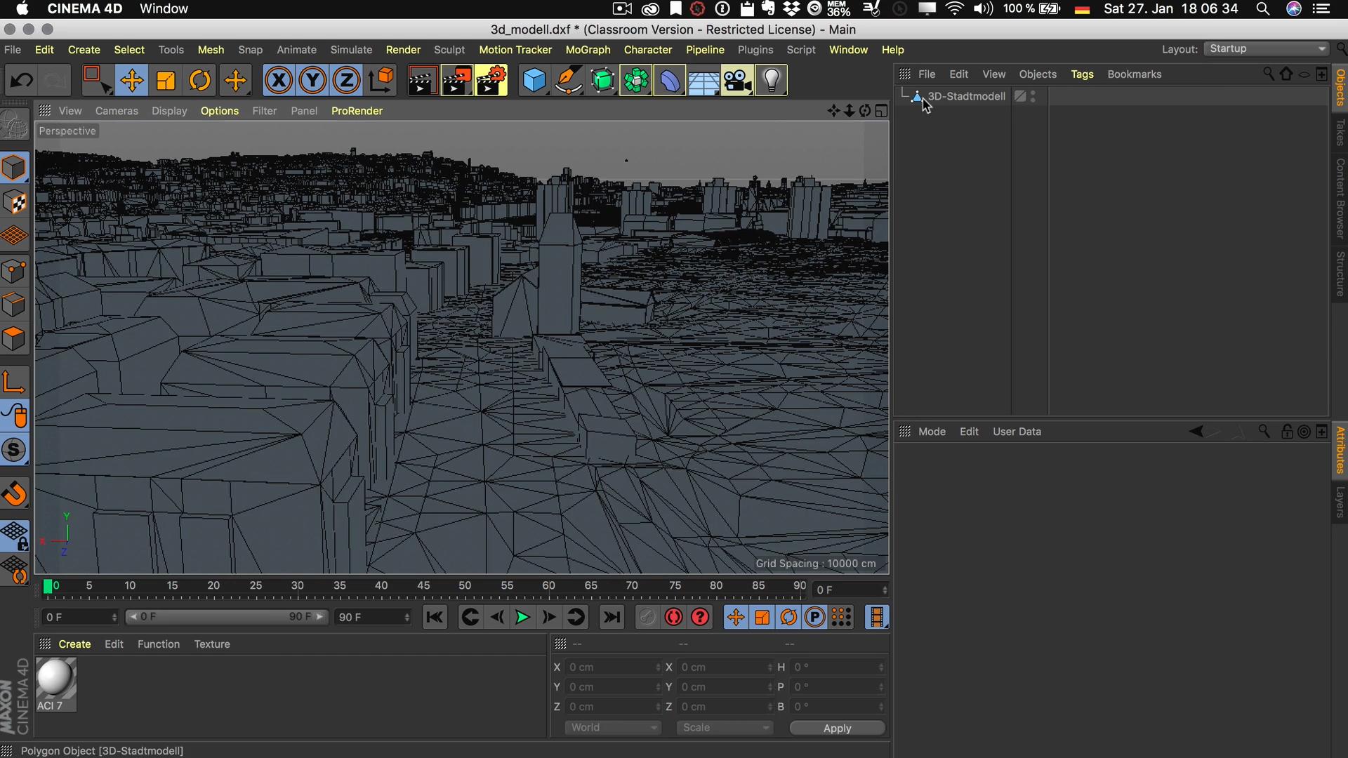 Cinema4D 3D-Stadtmodell Viewport Editor Display Darstellung Constant Shading Konstant Linien Lines