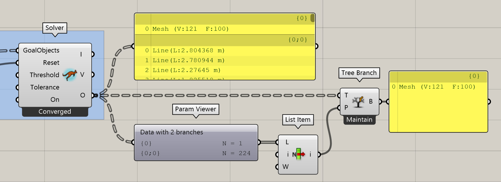 Rhino3D Grasshopper: Handle Paths with List / Cull